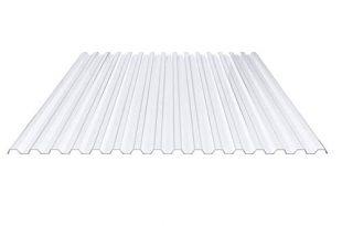 Lichtplatte Spundwandplatte Profil 7018 Material PVC 310x205 - Lichtplatte | Spundwandplatte | Profil 70/18 | Material PVC | Breite 1095 mm | Stärke 1,0 mm | Farbe Klarbläulich