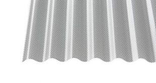 Polycarbonat Wellplatten Profilplatten Sinus 7618 wabe Struktur klar 3000 x 310x165 - Polycarbonat Wellplatten Profilplatten Sinus 76/18 wabe Struktur klar 3000 x 1045 x 2,8 mm