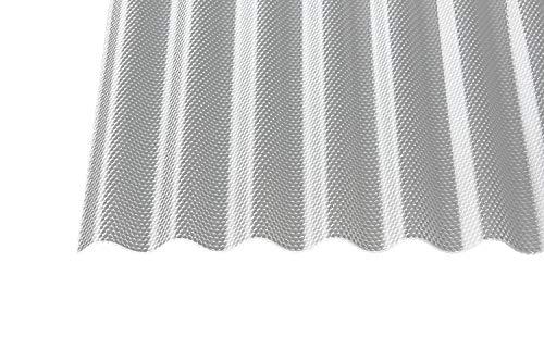 Polycarbonat Wellplatten Profilplatten Sinus 76/18 wabe Struktur klar 3000 x 1045 x 2,8 mm