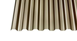 Polycarbonat Wellplatten Profilplatten Trapez 7618 bronce ohne Struktur 2500 x 310x165 - Polycarbonat Wellplatten Profilplatten Trapez 76/18 bronce ohne Struktur 2500 x 1040 mm