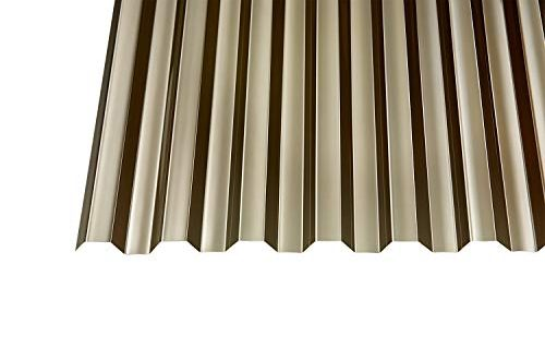 Polycarbonat Wellplatten Profilplatten Trapez 7618 bronce ohne Struktur 2500 x 500x330 - Polycarbonat Wellplatten Profilplatten Trapez 76/18 bronce ohne Struktur 2500 x 1040 mm