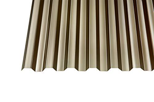 Polycarbonat Wellplatten Profilplatten Trapez 76/18 bronce ohne Struktur 2500 x 1040 mm