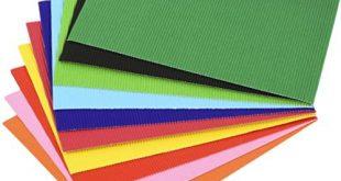 Supvox 56 Stücke Diy Wellplatten A4 Bau Papier Farbige Wellpappe für Handwerk Diy Projekte Handwerk Blume Machen Kit